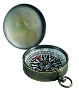 Brass Pocket Compass - Photo Museum Store Company