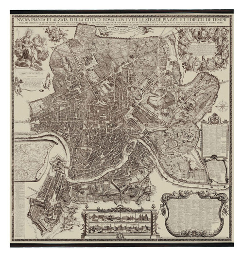 Rome Map 1676 - Photo Museum Store Company