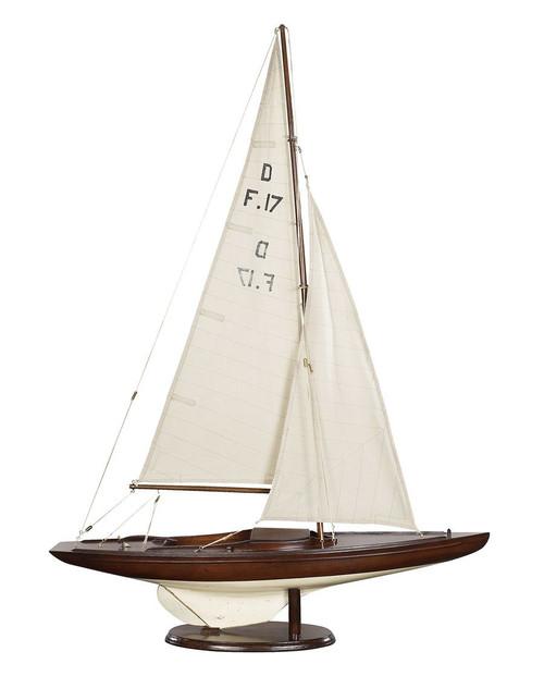 Dragon Olympic Sail Racer, Regatta Racer -  Antique Finish - Photo Museum Store Company