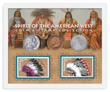Collector's Spirit of the American West Coin & Stamp Collection - Actual Authentic Collectable - Photo Museum Store Comp