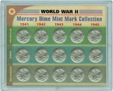 Collector's World War II Silver Mercury Dime Mint Mark Collection - Actual Authentic Collectable - Photo Museum Store Co