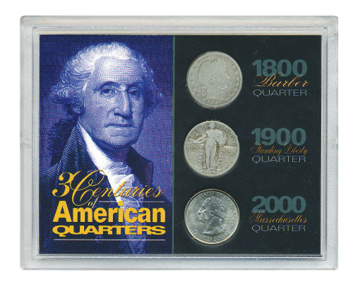 Collector's 3 Centuries of American Quarters - Actual Authentic Collectable - Photo Museum Store Company