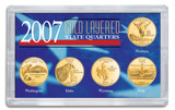 Collector's 2007 Gold-Layered State Quarters - Actual Authentic Collectable - Photo Museum Store Company
