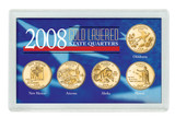 Collector's 2008 Gold-Layered State Quarters - Actual Authentic Collectable - Photo Museum Store Company