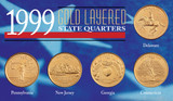 Collector's 1999 Gold-Layered State Quarters - Actual Authentic Collectable - Photo Museum Store Company