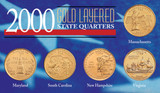 Collector's 2000 Gold-Layered State Quarters - Actual Authentic Collectable - Photo Museum Store Company