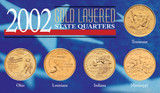 Collector's 2002 Gold-Layered State Quarters - Actual Authentic Collectable - Photo Museum Store Company