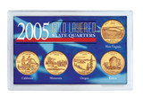 Collector's 2005 Gold-Layered State Quarters - Actual Authentic Collectable - Photo Museum Store Company