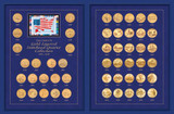 Collector's The Complete Gold-Layered Statehood Quarter Collection 1999-2008 - Actual Authentic Collectable - Photo Muse