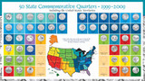 Collector's Complete Statehood Quarter Collection - Actual Authentic Collectable - Photo Museum Store Company