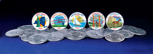 Collector's 2001 Colorized Statehood Quarters - Actual Authentic Collectable - Photo Museum Store Company