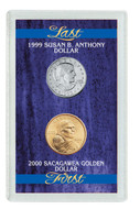 Collector's Last Susan B. Anthony Dollar & First Sacagawea Dollar - Actual Authentic Collectable - Photo Museum Store Co