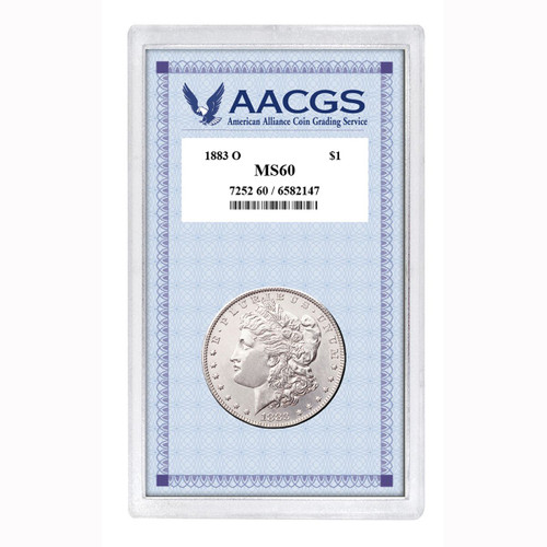 Collector's 1883-O Morgan Dollar Graded MS60 - Actual Authentic Collectable - Photo Museum Store Company