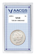 Collector's 1878S First-Year-of-Issue Morgan Silver Dollar, Graded XF40 - Actual Authentic Collectable - Photo Museum St
