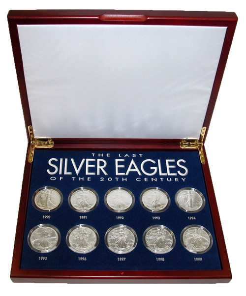 Collector's The Last Silver Eagles of the 20th Century - Actual Authentic Collectable - Photo Museum Store Company