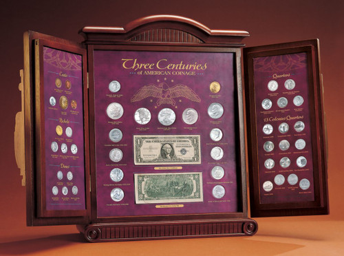 Collector's Three Centuries of American Coinage - Actual Authentic Collectable - Photo Museum Store Company