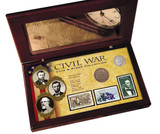 Collector's Civil War Coin & Stamp Collection Boxed Set - Actual Authentic Collectable - Photo Museum Store Company