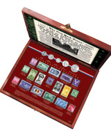 Collector's New York Times World War II Coin and Stamp Collection Boxed Set - Actual Authentic Collectable - Photo Museu