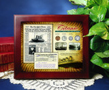 Collector's New York Times Titanic Collection in Wood Display Case - Actual Authentic Collectable - Photo Museum Store C