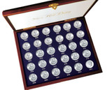 Collector's 30 Years of US Mint Half Dollars Each Struck of .900 Fine Silver - Actual Authentic Collectable - Photo Muse