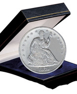 Collector's Seated Liberty Silver Half Dollar - Actual Authentic Collectable - Photo Museum Store Company