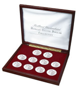 Collector's Brilliant Uncirculated Morgan Silver Dollar Collection - Actual Authentic Collectable - Photo Museum Store C