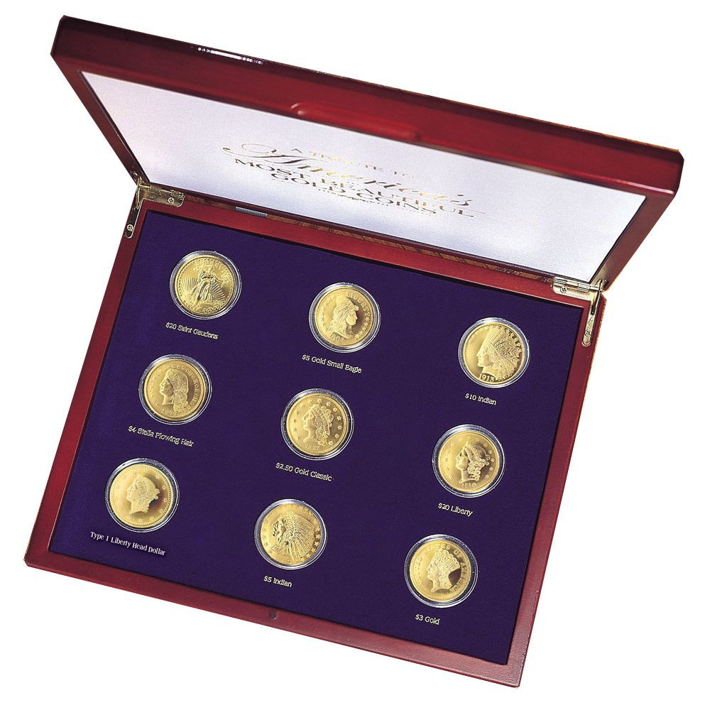 Collector's Tribute to Americas Most Beautiful Gold Coins - Set of 9 -  Replica Coins