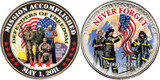 Collector's Mission Accomplished Coin - Defenders of Freedom Coin - Actual Authentic Collectable - Photo Museum Store Co