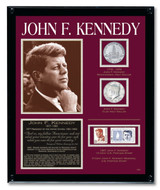Collector's Kennedy Framed Tribute Collection - Actual Authentic Collectable - Photo Museum Store Company