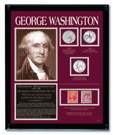Collector's Washington Framed Tribute Collection - Actual Authentic Collectable - Photo Museum Store Company