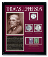Collector's Jefferson Framed Tribute Collection - Actual Authentic Collectable - Photo Museum Store Company
