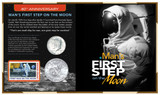 Collector's 40th Anniversary Man's First Step on the Moon - Actual Authentic Collectable - Photo Museum Store Company