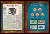 Collector's New York Times Civil War Coin & Stamp Collection  - Actual Authentic Collectable - Photo Museum Store Compan