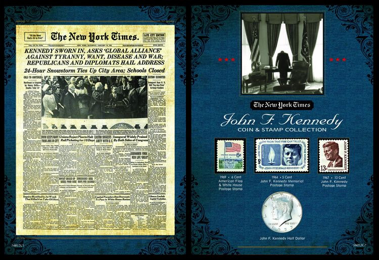 Collectors The New York Times JFK Coin Stamp Collection