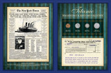 Collector's New York Times 1912 Coin Collection with Marconi Telegram - Actual Authentic Collectable - Photo Museum Stor