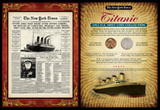 Collector's New York Times Titanic Portfolio - Actual Authentic Collectable - Photo Museum Store Company