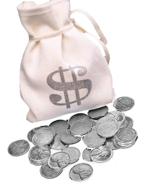 Collector's Bankers Bag of 1943 Lincoln Steel Pennies - Actual Authentic Collectable - Photo Museum Store Company