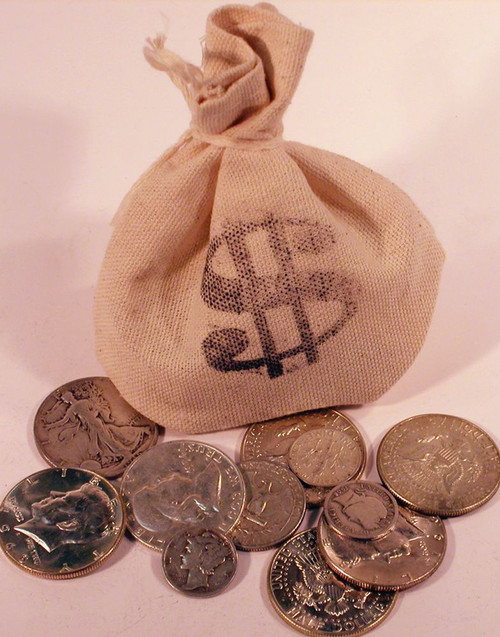 bag of us coins