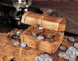 Collector's Treasure Chest of 51 Historic Coins - Actual Authentic Collectable - Photo Museum Store Company