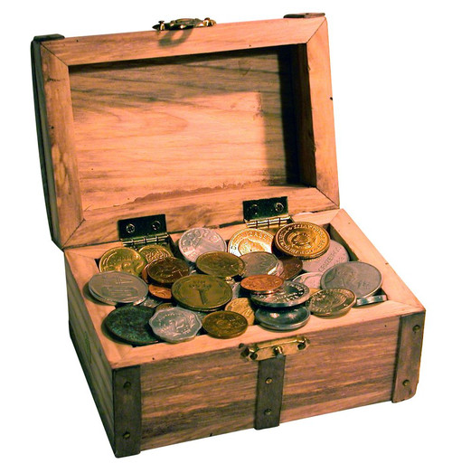 Collector's Treasure Chest of 50 Foreign Coins - Actual Authentic Collectable - Photo Museum Store Company