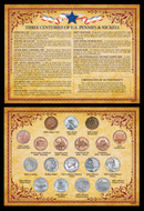 Collector's Three Centuries of U.S. Pennies & Nickels - Actual Authentic Collectable - Photo Museum Store Company