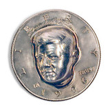 Collector's 3-Dimensional JFK Half Dollar - Actual Authentic Collectable - Photo Museum Store Company