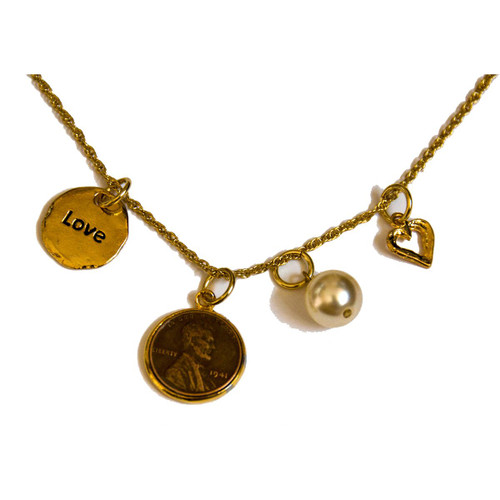 Collector's Love & Charms Lincoln Penny Pendant - Actual Authentic Collectable - Photo Museum Store Company