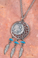 Collector's Buffalo Nickel Dream Catcher Pendant - Actual Authentic Collectable - Photo Museum Store Company