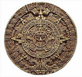 Aztec Solar Calendar - Antropological Museum, Mexico City. 1500 A.D. - Photo Museum Store Company