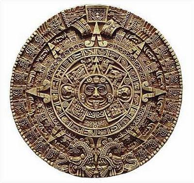 Aztec Solar Calendar - Antropological Museum, Mexico City. 1500 A.D. - Photo Museum Store Company
