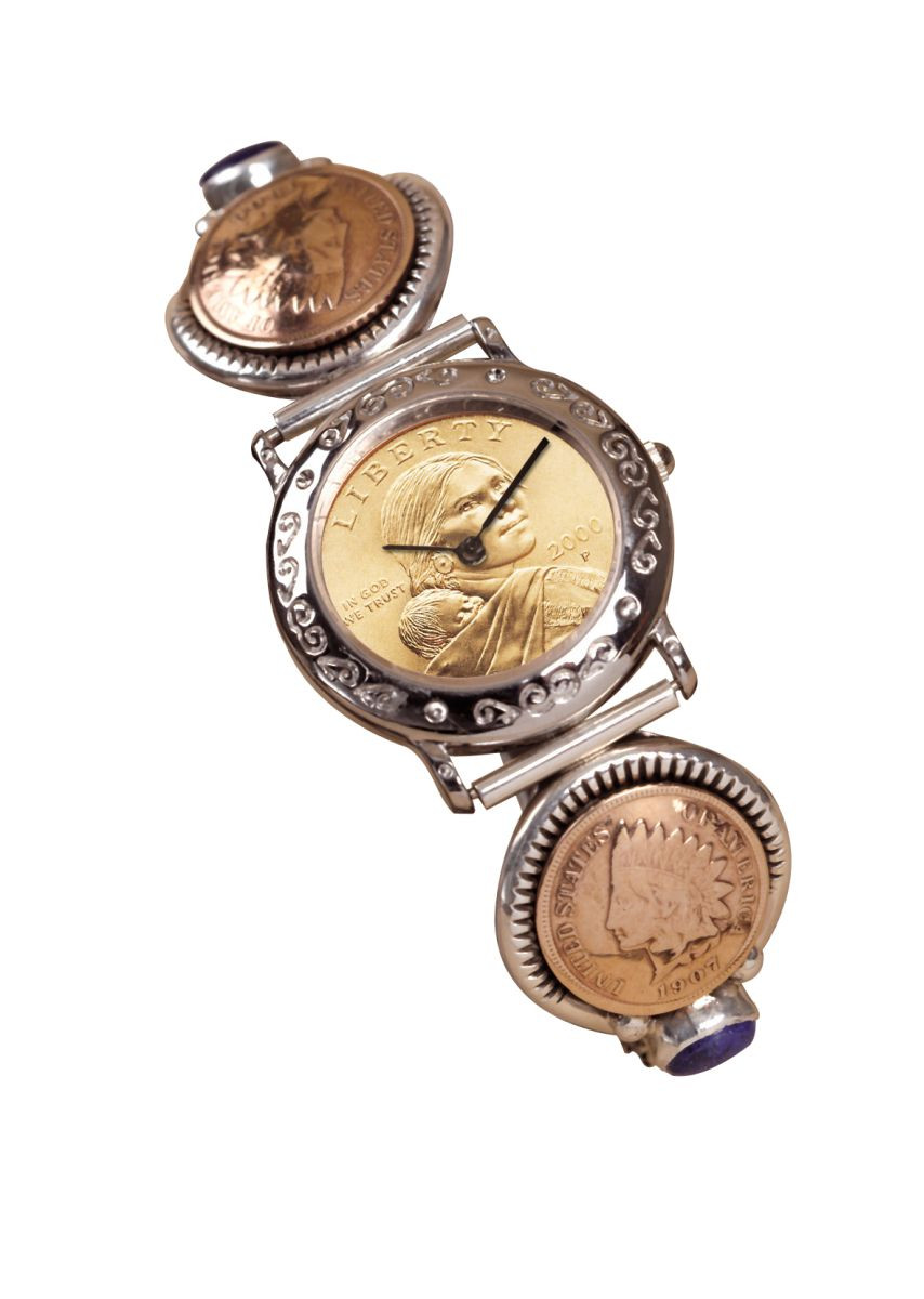 Sterling Silver Sacagawea Coin Cuff Watch With 2 Indian Cents And Lapis Stones Coin Jewelry Actual Authentic Collectable Museum Mint Historic Numismatics Coin Collecting,Macaron Recipe Easy
