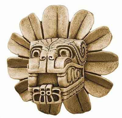 Feathered Serpent Head of Quetzalcoaltl - Pyramid of Quetzalcoaltl, Teotihuacan, Mexico, 300 AD - Photo Museum Store Com