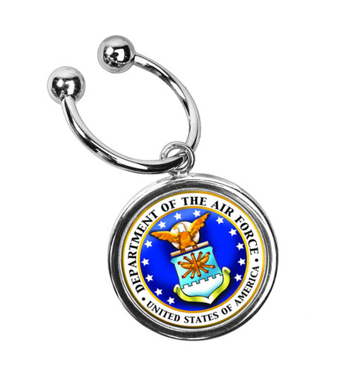 Collector's JFK Half Dollar Keyring/Airforce - Actual Authentic Collectable - Photo Museum Store Company