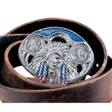 Collector's Buffalo Nickel Enamel Belt Buckle - Actual Authentic Collectable - Photo Museum Store Company